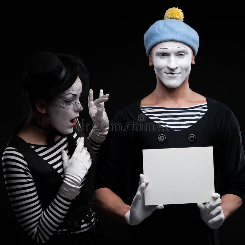 Lustige Pantomimen stockfotos