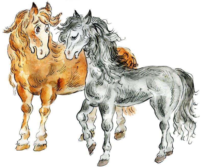Lustige Pferde vektor abbildung