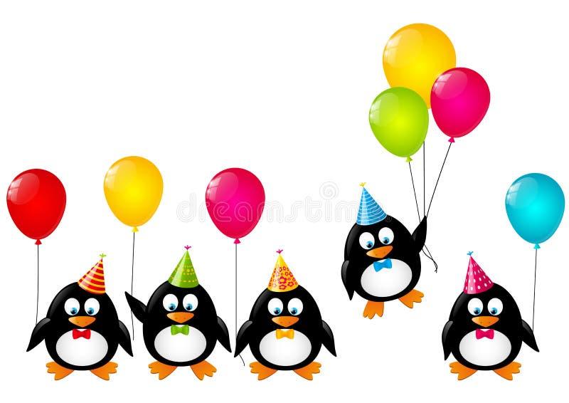 Lustige Pinguine lizenzfreie abbildung