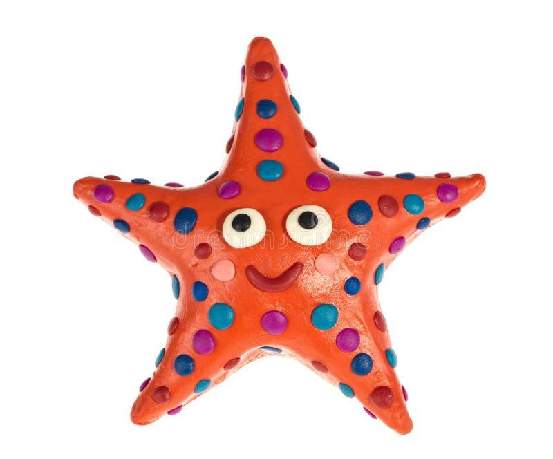 Lustige Plasticine Starfish lizenzfreies stockbild