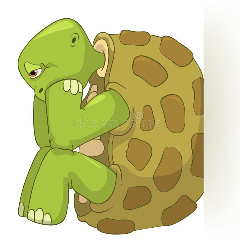 Lustige Schildkröte. Durcheinander. vektor abbildung