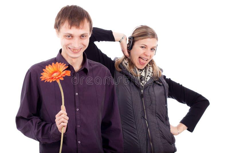 Lustige sonderbare Paare lizenzfreie stockfotografie