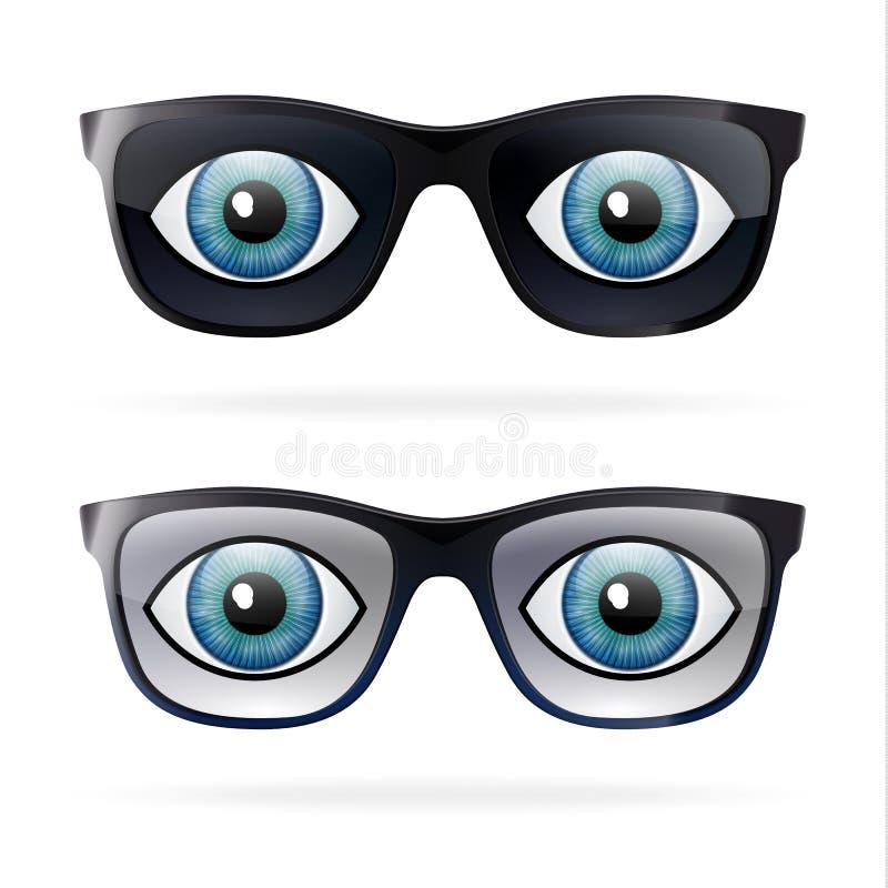 Lustige Sonnenbrillesammlung lizenzfreie stockfotografie