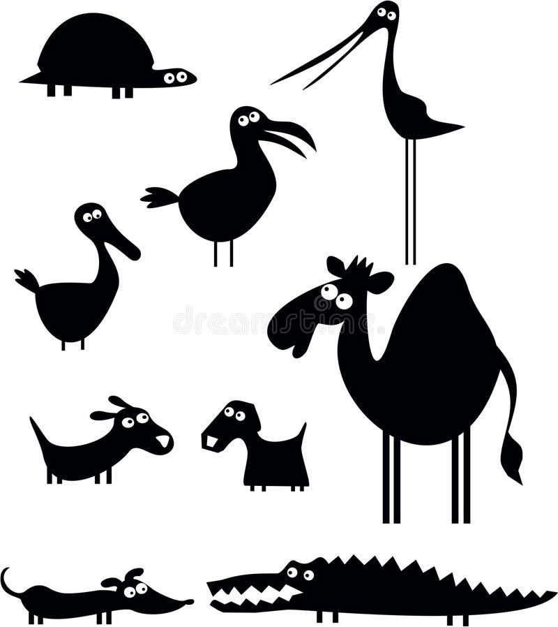 Lustige Tier-Ansammlung stock abbildung