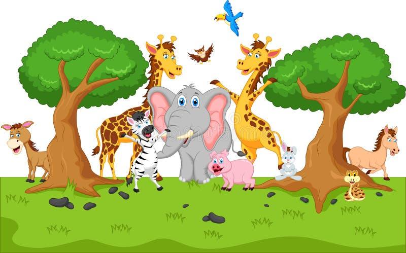 Lustige Tierkarikatur lizenzfreie abbildung
