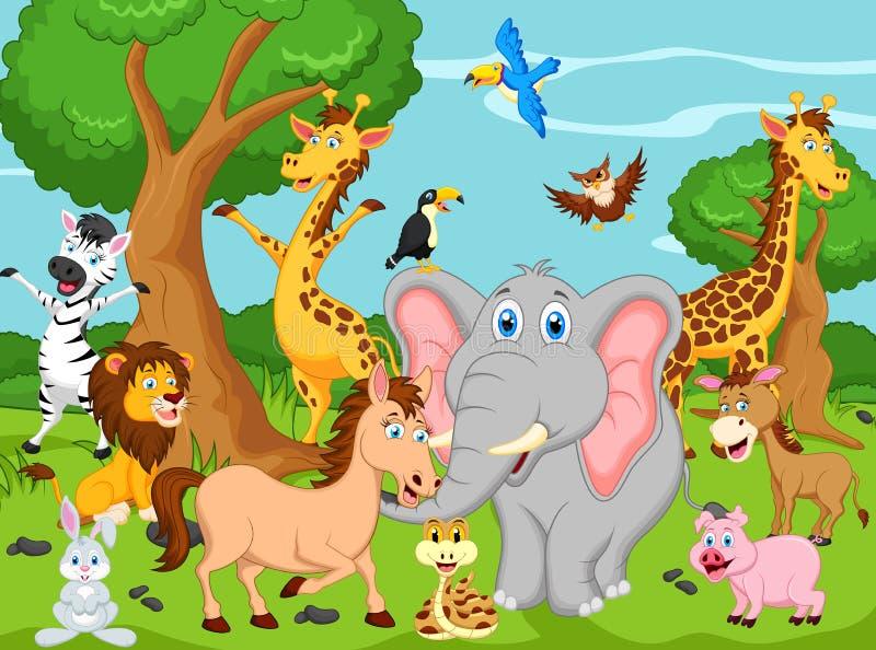Lustige Tierkarikatur stock abbildung