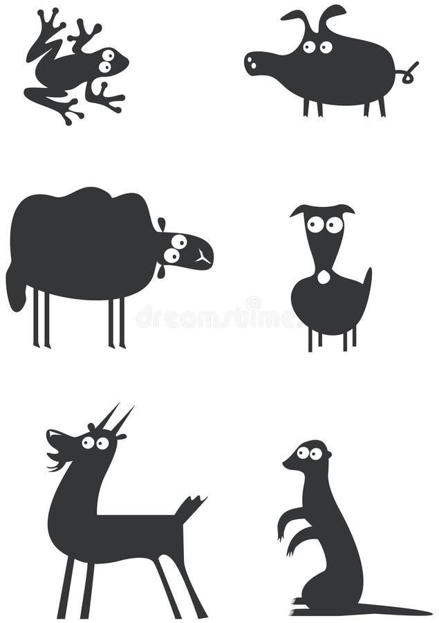 Lustige Tierzeichen vektor abbildung