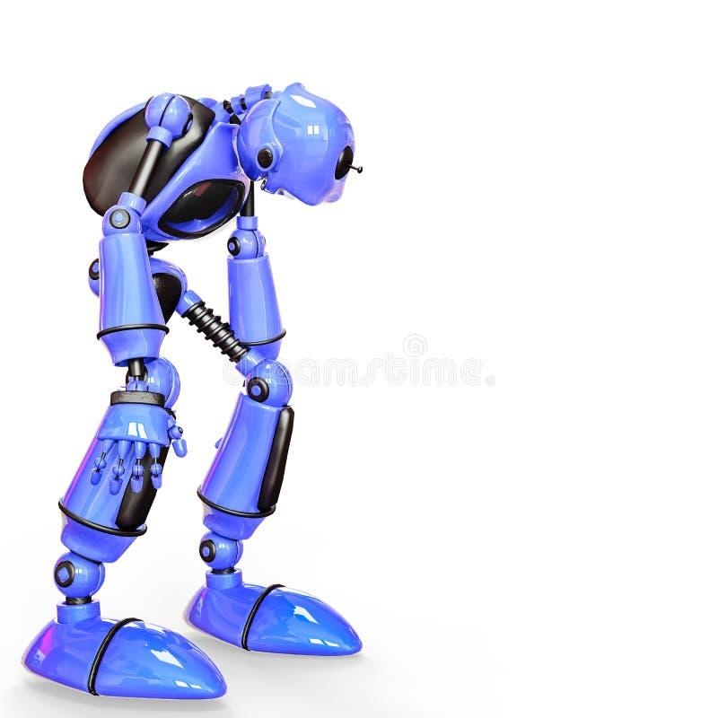 Lustige und glatte Roboterkarikatur stock abbildung