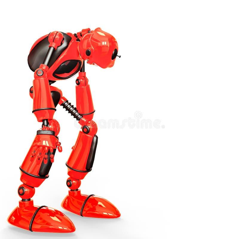 Lustige und glatte Roboterkarikatur lizenzfreie abbildung