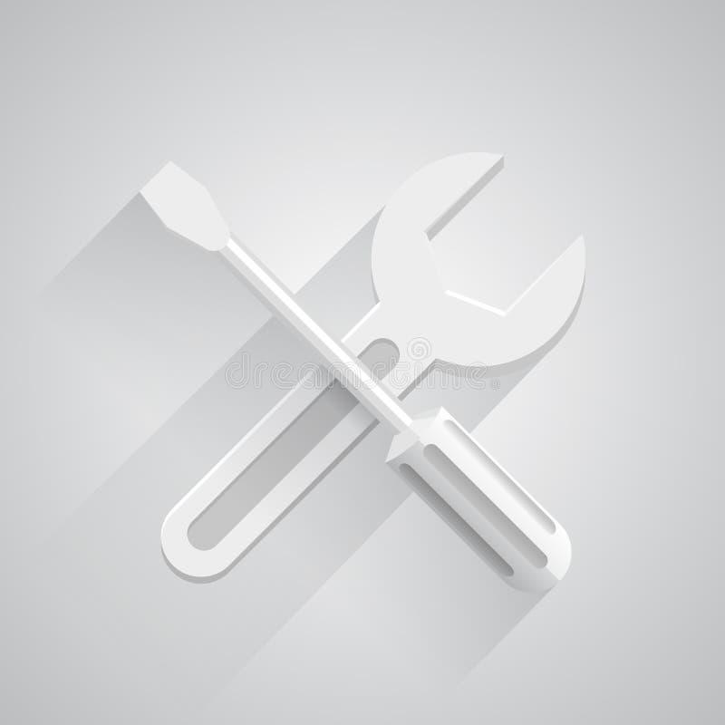 Lustige Werkzeuge auf weißem Hintergrund vektor abbildung
