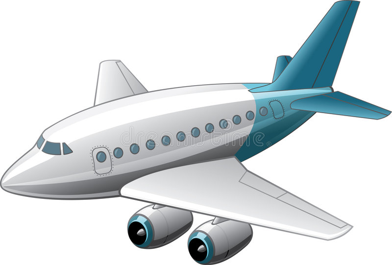Lustiger Airbus lizenzfreie abbildung