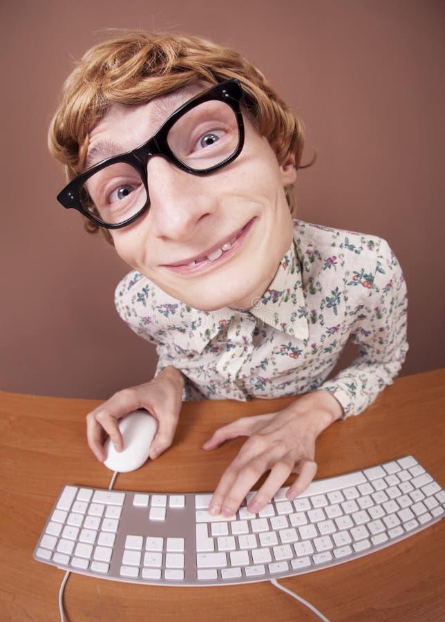 Lustiger Büroangestellter lizenzfreie stockfotografie