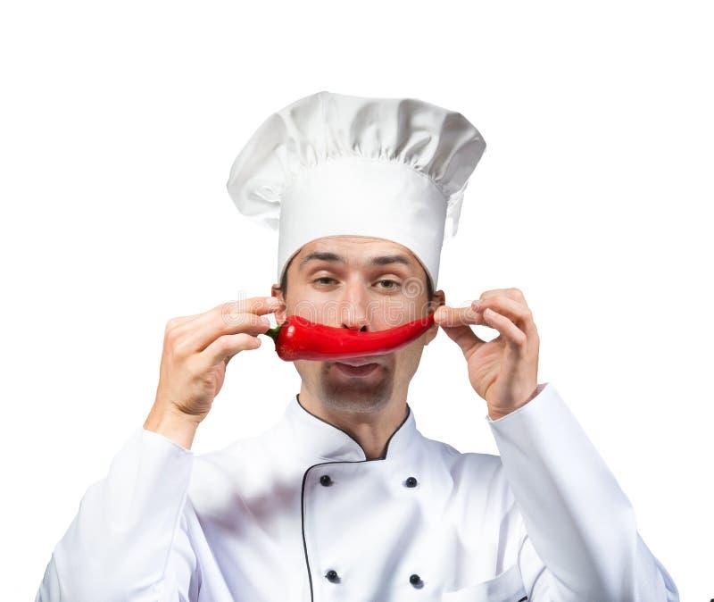 Lustiger Chef stockfotos