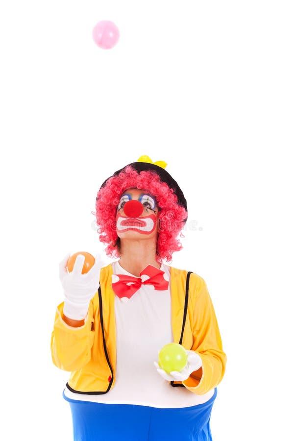 Lustiger Clown stockbild