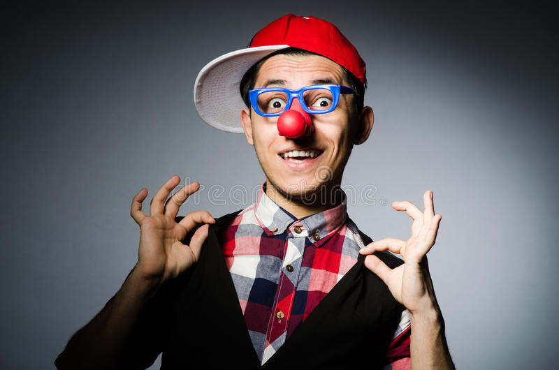 Lustiger Clown stockbild