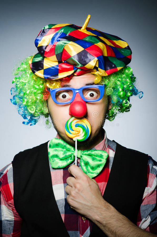 Lustiger Clown stockfotografie