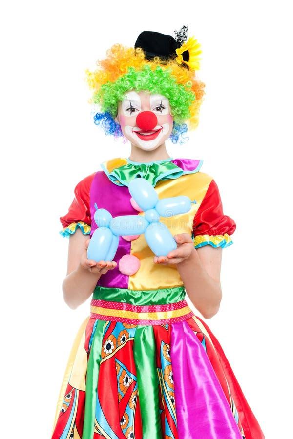 Lustiger Clown - colorfullportrait stockbild