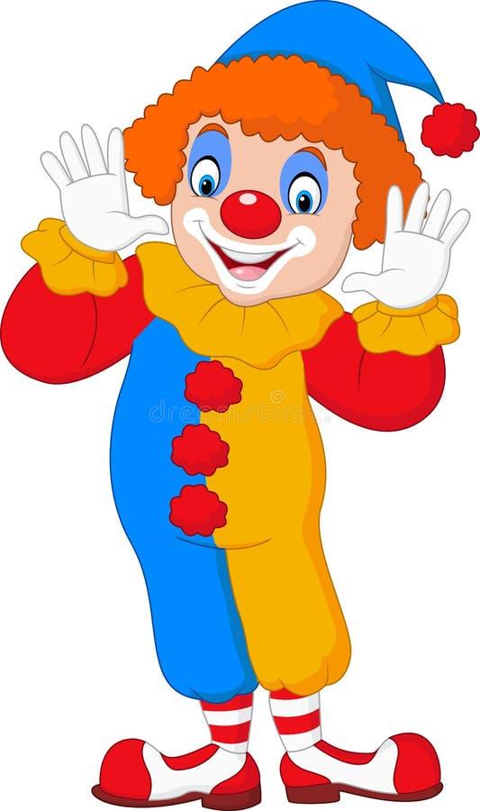 Lustiger Clown der Karikatur stock abbildung