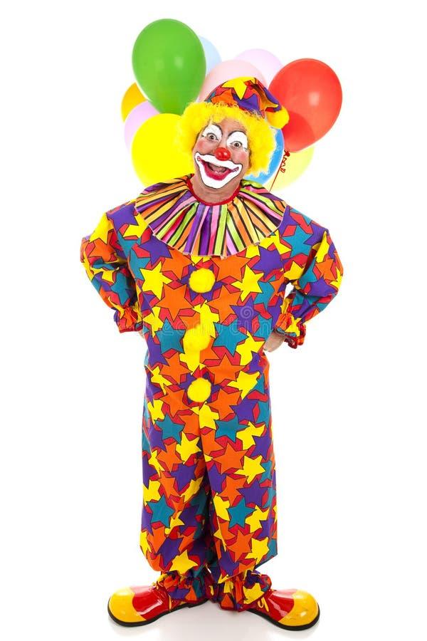 Lustiger Clown-volle Karosserie stockfoto