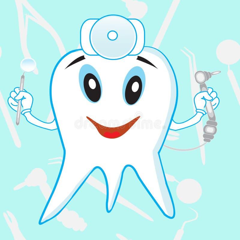 Lustiger dantist Zahn stock abbildung