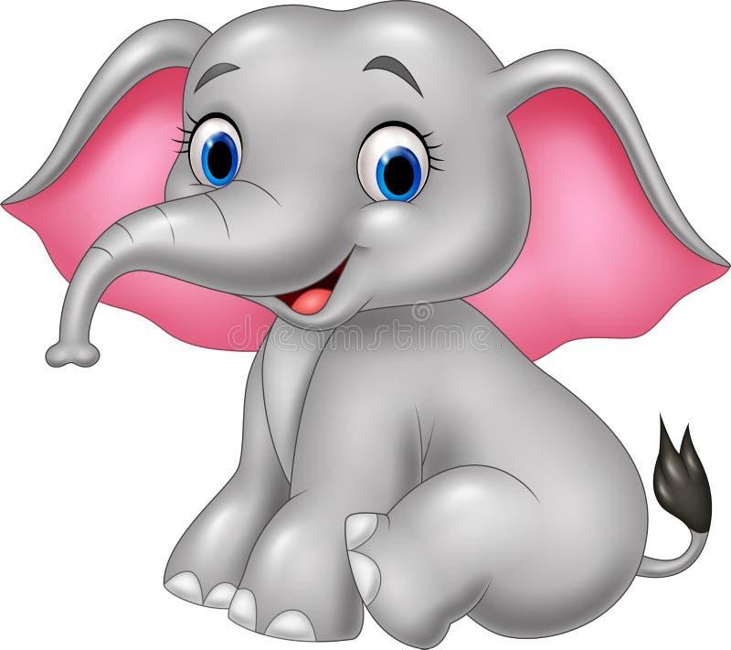 lustiger Elefant der Karikatur vektor abbildung