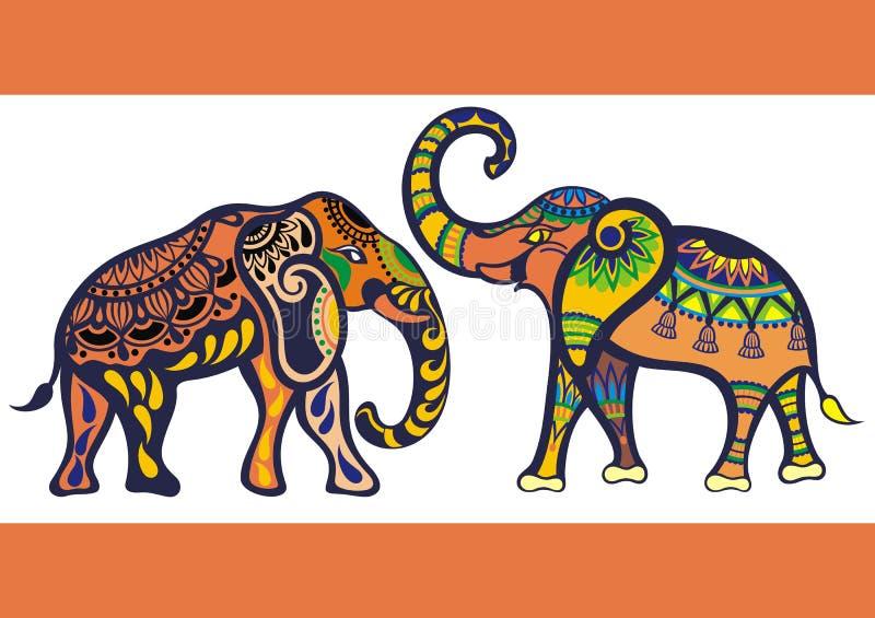 Lustiger Elefanthintergrund lizenzfreie abbildung