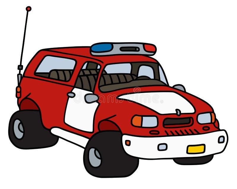 Lustiger Feuerstreifenwagen vektor abbildung