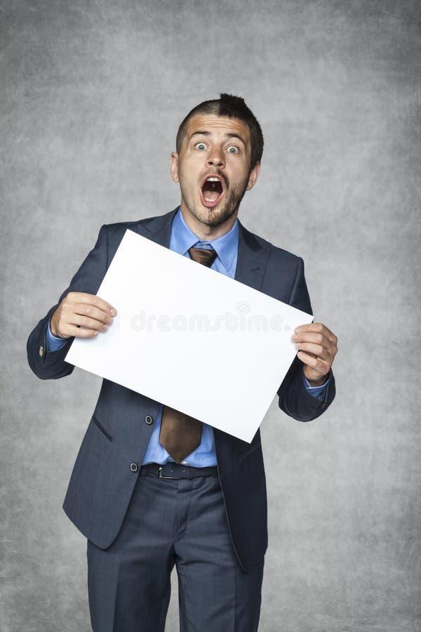 Lustiger Geschäftsmann lizenzfreie stockbilder