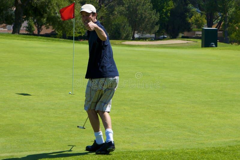 Lustiger Golf-Spieler stockbild