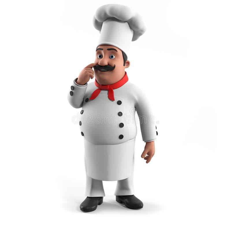 Lustiger Küchechef stock abbildung