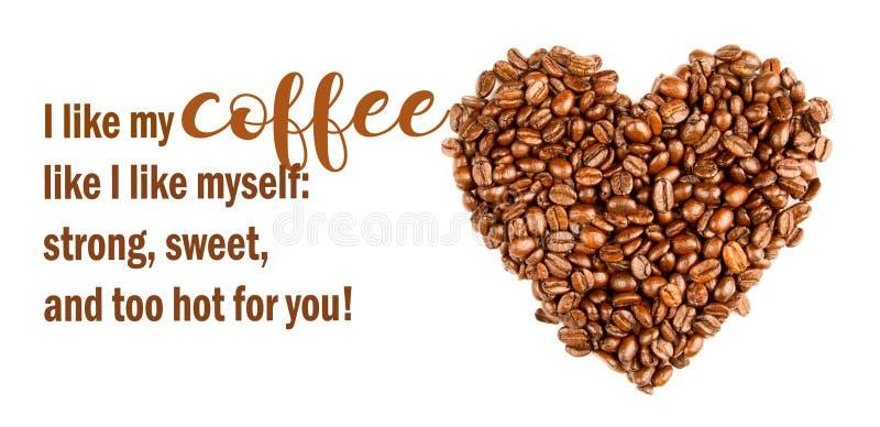 Lustiger Kaffee Memes frech, Kaffee süß als Liebe Kühle Zitate lizenzfreies stockfoto