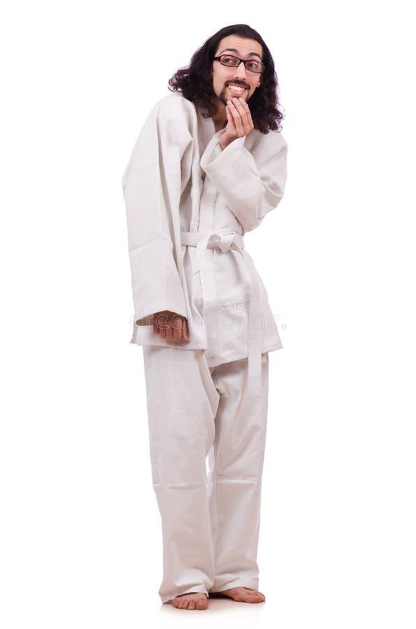 Lustiger Karatekämpfer lizenzfreie stockfotos