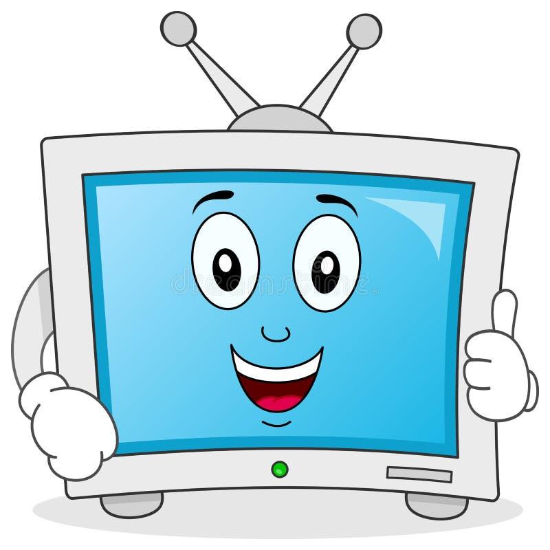 Lustiger Karikatur-Fernsehcharakter lizenzfreie abbildung