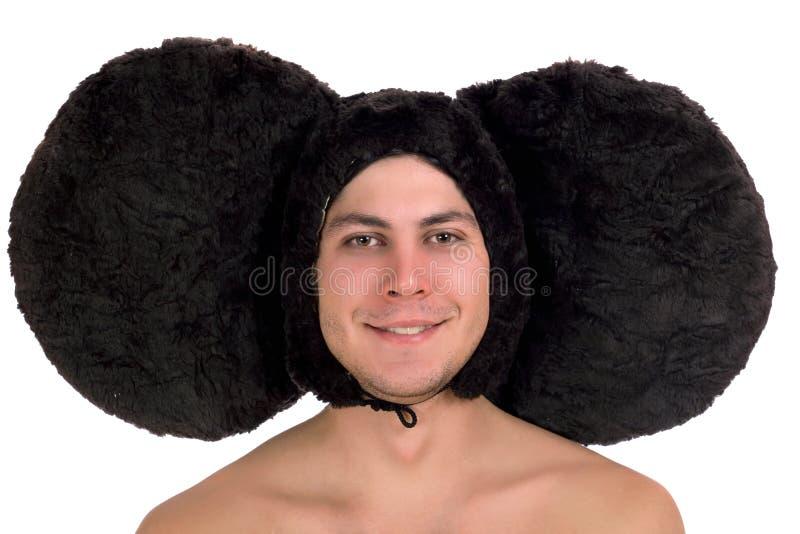 Lustiger Kerl mit den großen Ohren stockfotografie