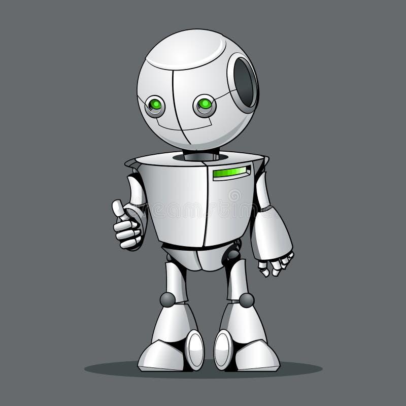 Lustiger Kinderroboter, der O.K. darstellt vektor abbildung