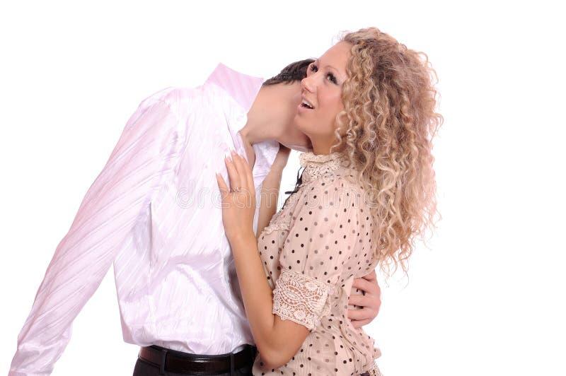 Lustiger Kuss lizenzfreies stockfoto