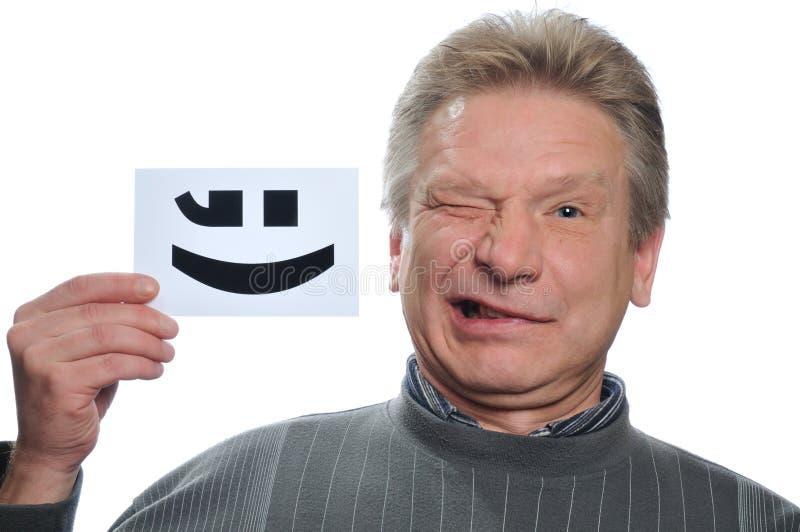Lustiger Mann mit Karte lizenzfreies stockbild