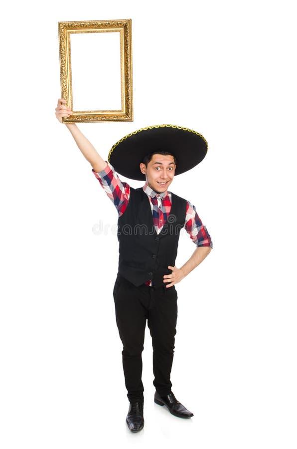 Lustiger Mexikaner mit Sombrero stockfotografie