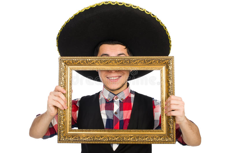 Lustiger Mexikaner mit Sombrero lizenzfreies stockfoto