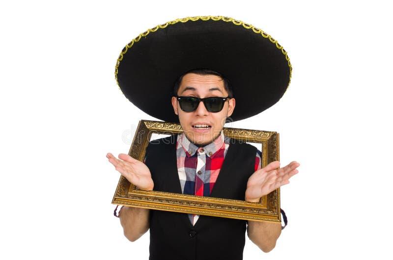 Lustiger Mexikaner mit Sombrero lizenzfreie stockfotografie