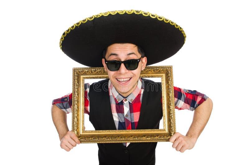 Lustiger Mexikaner mit Sombrero lizenzfreie stockbilder