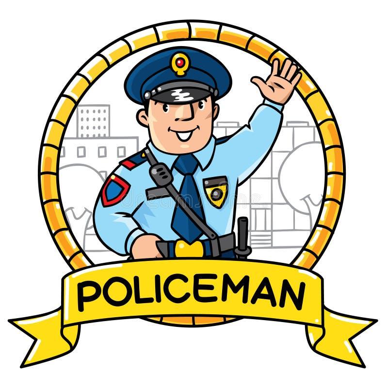 Lustiger Polizist Kinderillustration stock abbildung