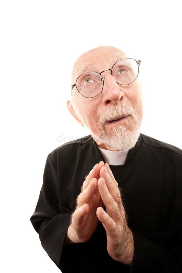 Lustiger Priester stockbilder