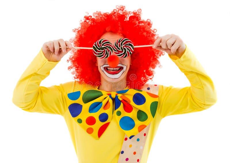 Lustiger spielerischer Clown stockbild