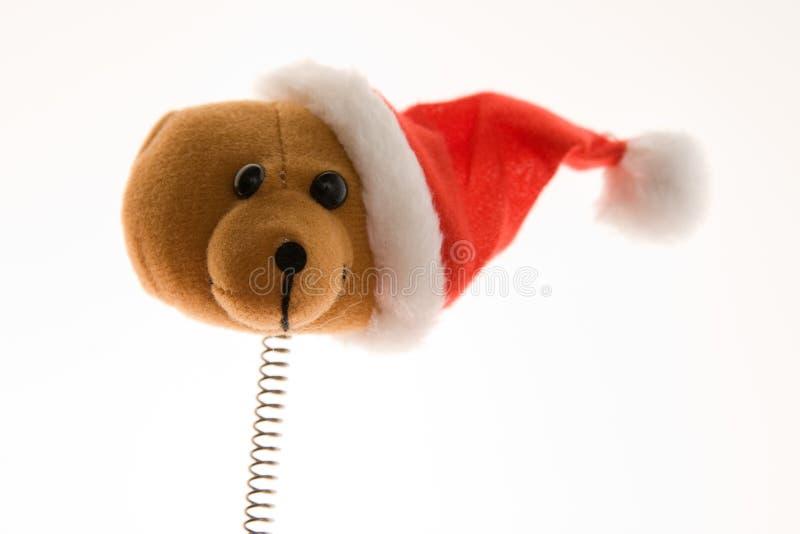 Lustiger Weihnachtsbär stockbild