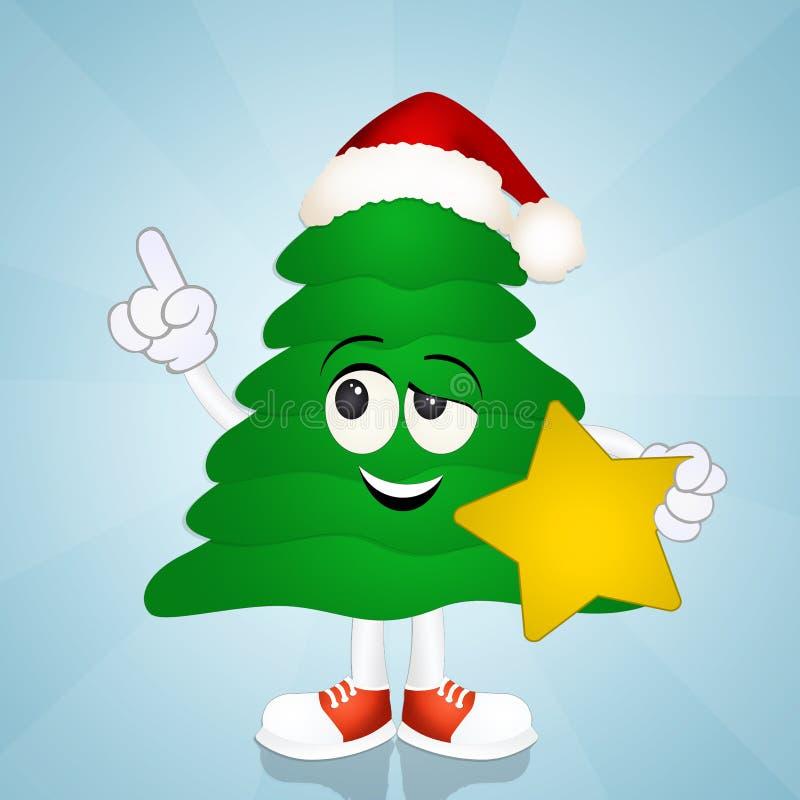 lustiger weihnachtsbaum stock abbildung illustration von. Black Bedroom Furniture Sets. Home Design Ideas