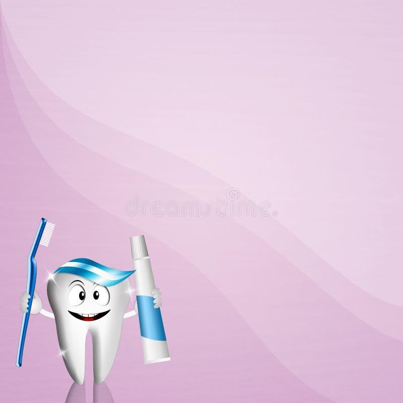 Lustiger Zahn für Zahnarzt stock abbildung
