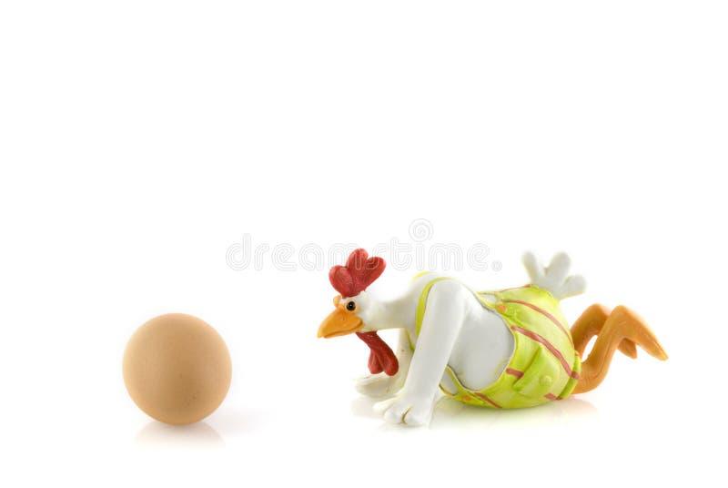 Lustiges gekleidetes Huhn lizenzfreies stockbild