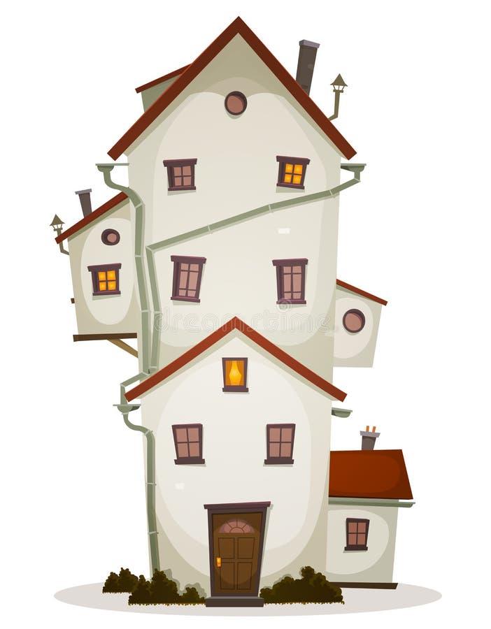 Lustiges großes Haus stock abbildung