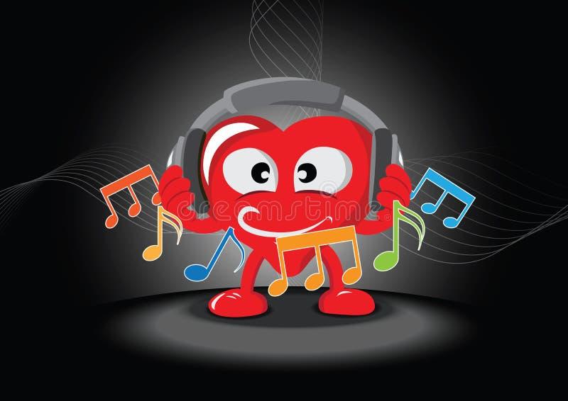 Lustiges Hörendes Inneres Die Musik Lizenzfreies Stockbild